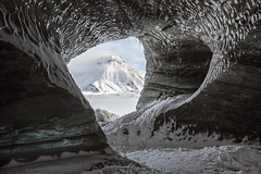 Inside looking out (David Feuerhelm) Tags: icecave ice snow mountain cave icicles texture colour pattern nikkor sky white serene landscape iceland nikon d750 1635mmf4 nature