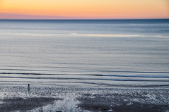 Further than the Eye can See. (Marie-Laure Even) Tags: 2011 coast coucher coucherdesoleil côte england eté june loneliness marielaureeven mer nikond5000 northyorkshire ocean people royaumeuni sea soleil solitude summer sunset travel uk unitedkingdom voyage whitby закат