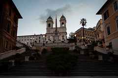 An early morning stroll in Rome (alvise.mori) Tags: roma rome sunrise travel trinitàdeimonti piazzadispagna dusk bluehour nikon d7500 nikond7500 photography monuments history