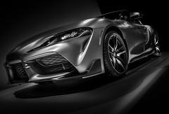 SUPRA GR (Dave GRR) Tags: supra supragr supercar hyper car vehicle auto toronto show 2019 monochrome mono black white bw olympus