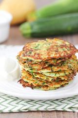 Zucchini Fritters With Avocado Dill Dip Recipe (healthylife2) Tags: zucchini fritters with avocado dill dip recipe
