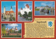 Ingolstadt / Bayern / Deutschland / Germany (Alea ♥) Tags: ingolstadt bayern oberbayern bavaria germany deutschland europa europe stadt city gebäude buildings chronikkarte wappen multiview blauerhimmel blueheaven outdoor post card postcard urlaubsgrüse urlaub vacation postkartensammlung collection postkarte ansichtskarte alea♥