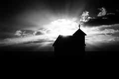 """FXE33400 (""""Pande"""") Tags: blackwhite bw blackandwhite monochrome noir zen chapel church absoluteblackandwhite"""