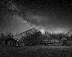 SPACE TRAVELS (Nenad Spasojevic) Tags: white bnw a7riii sony nenografiacom milkyway nenad oldcars stars wisconsin light travelwisconsin night cars sonyimages landscapes 2019 old spasojevic rural travel exploration spacetravels black blackandwhitephotography explore sonyalpha perspective nightphotography nenadspasojevicart monoart wi chicago illinois il usa spacecars