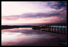 Light To Dark (Seeing Things My Way...) Tags: sunrise sunup dawn morning seaside water sea horizon clouds sky reflection coast pool narrabeen pacificocean