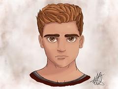 Stylized Self Portrait! (Ephraim Fowler) Tags: ephraim fowler selfportait anime manga stylizedselfportrait