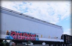 (timetomakethepasta) Tags: gsicks freight train graffiti art grainer hopper