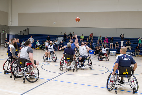 Wounded warriors participate in the 2019 Navy basketball trials., From FlickrPhotos
