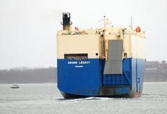 Grand Legacy (jelpics) Tags: grandlegacy carcarrier roro cargoship commercialship commoncarrier merchantship boat boston bostonharbor bostonma harbor massachusetts ocean port sea ship vessel