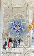 UAE (Abu Dhabi) Stained glass windows of Sheikh Zayed Grand Mosque (ustung) Tags: stainedglass window domes architecture grand mosque sheikhzayed unitedarabemirates uae