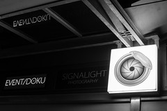 Lights out (auqanaj) Tags: neonsign illuminatedadvertising lichtreklame defekt broken signallight signalight amberg germany deutschland bayern bavaria monochrome blackandwhite schwarzweis