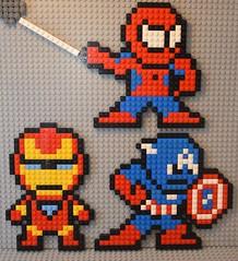 Avengers (Livin'TheBrickLife) Tags: legomoc legoavengers avengers ironman spiderman lug clug