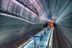 U-Bahn Station Bochum Lohring (stevepe81) Tags: lightroom hdr sigma16mm14 instawalk station architecture city cityscape rails architektur ubahn bochum lohring sonyalpha6300 fotowalk ubahnstation