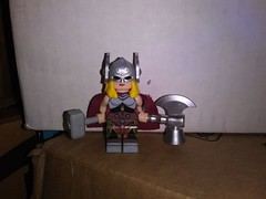 Thor (Jane) wields two hammers (teamfourstud) Tags: lego custom thor jane foster all new different marvel