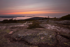 The First Sun Light (VamZZZZ) Tags: acadia acadianationalpark sunrise summer cadillacmountain maine mainebay northeast atlanticocean canon