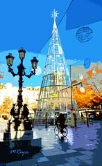 Bib-Rambla (Manuel Reyes) Tags: paisajeurbano urbanlandscape plaza granada españa art navidad