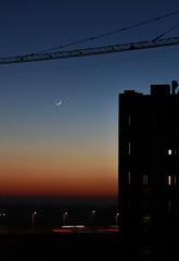 Le due torri (Gherardo Rosato Rossi) Tags: moon tramonto sunset controluce backlight