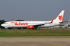 HS-LTP Thai Lion Air Boeing 737-9GP(ER)(WL) at Don Meuang Airport Bangkok on 12 January 2019 (Zone 49 Photography) Tags: aircraft airliner airplane aeroplane january 2019 vtbd dmk bangkok thailand donmeuang airport sl tlm thai lion air boeing 737 739 900 9gp er hsltp