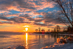 An icy winter sunrise (Daniel Q Huang) Tags: sunrise icy cold winter landscape seascape lakescape