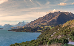 New Zealand Roadside (FatPigs) Tags: new zealand roads road roadside driving lake mountain hill