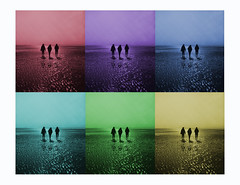 Wo hin (MikeSolfrank) Tags: art strand beach sunset red blue green yello purple water wasser sea meer leute people germany deutschland usedom