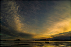 Tranquility (julie cavell) Tags: sunset beach water sea mackenzie canada tofino british columbia travel tranquil silhouettes