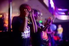 Double trouble (claudia 222) Tags: amsterdam panamanightclub night jungledam strobe purple bokeh longexposure freelensing wideopen noctiluxm 50mm f095 asph