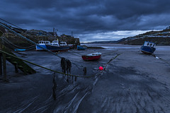 Pettycur Harbour Kinghorn (Jason Hoyle) Tags: pettycurharbour kinghorn burntisland fife harbour beach bluehour sea scotland sand seaweed forth coast fishing boats bay buoy
