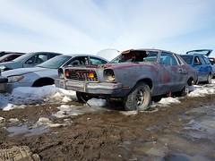 Ford Mustang II (dave_7) Tags: ford mustang ii classic car scrapyard junkyard