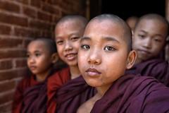 myanmar 2019 (mauriziopeddis) Tags: myanmar asia birmania burma monk monaci monastery portrait ritratto face viso canon professional children boys red purple eyes culture spiritual religion buddismo buddha reportage people