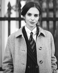 Karolina (bof352000) Tags: woman tie necktie suit shirt fashion businesswoman elegance class strict femme cravate costume chemise mode affaire