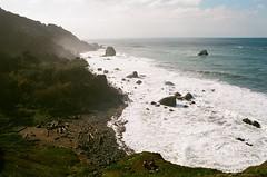 - (Chlorophyllic) Tags: beach ocean rock sunshine waves outdoor outdoors nature hike film pentax k1000 35mm