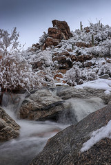 Sonoran Snow (Preston Loveridge) Tags: waterfall long exposure snow arizona tucson tanque verde falls