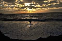 Fishing on the Black Sand Beach at Sunrise (ShiceK) Tags: sunrise fishing blacksandbeach