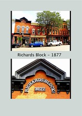 Brockport  New York  - Richards Block - Historic District (Onasill ~ Bill Badzo - 62 Million - Thank You) Tags: monroecounty orleanscounty ny newyork state main street town erie canal richards architecture commercial italian 1877 pediment vintage old photo block onasill nrhp historic building former boot shop brockport