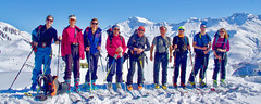 Le groupe au sommet du Grand Mas (Lumières Alpines) Tags: didier bonfils goodson goodson73 dgoodson lumieres alpines montagne mountain europa outside france francia alpes alps skiing alpine alpini snow
