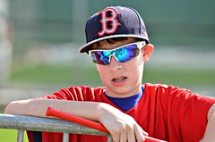 Autograph Seeker -- Boston Red Sox Spring Training (forestforthetress) Tags: baseball outdoor color omot nikon face hat bostonredsoxspringtraining bostonredsox redsox jetbluepark glasses