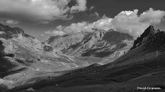 Picos de Europa - Monochrome (Daveoffshore) Tags: spain picos europa monochrome landscape scenery mountain rock sky cloud