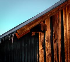 Springtime sun warming (felix200SX) Tags: sky spring snow ice barn old wood suomi finland sigma 24mm 14 art