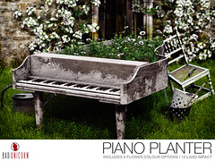 NEW! Piano Planter - MadPea Spring Hunt! (Bhad Craven 'Bad Unicorn') Tags: freebie hunt hints hunts sl madpea mad pea games piano plant pot garden furniture decor gardens pianos rustic 3d art artist gfx graphic design bhadcraven badunicorn unicorns unicorn bad bhad craven secondlife second life mesh meshed decorative decors home homes houses builds buildings cool dope
