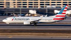 MSP N955AN (Moments In Flight) Tags: minneapolisstpaulinternationalairport msp kmsp mspairport aviation avgeek airplane airliner boeing 737 737823 americanairlines n955an panning motionblur