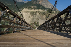 Old closed bridge (Sir_Francis_Barney) Tags: canada kanada british columbia bridge fraser lillooet
