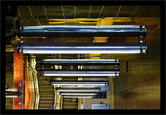 Two ankles (Jean-Louis DUMAS) Tags: architecture napoli naples abstrait abstraction abstract lumière escalator foot pied chaussures chevilles