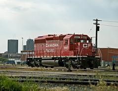 Winnipeg MB Sunday July 29th 2007 0943CDT (Hoopy2342) Tags: rail railroad railway canadianpacific canadianpacificrailway winnipeg man manitoba emdsd40 mcphillipsst winnipegrailyard