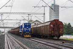 HZ 2063 014, Velika Gorica (josip_petrlic) Tags: hž hrvatske željeznice croatian railways railway railroad ferrovia eisenbahn željeznica železnice emd gm gt26cw2 diesel locomotive lokomotive lokomotiva teretni vlak freight train hz 2063