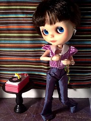 """Blythe-a-Day#14: Fortune::  Nylah & Her Record Player • <a style=""""font-size:0.8em;"""" href=""""http://www.flickr.com/photos/154461393@N05/46061069234/"""" target=""""_blank"""">View on Flickr</a>"""