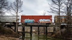 Boxcar tags 02 (issafly) Tags: arkansas trainart nikon nikkor1424mm d500 graffiti littlerock boxcar streetart littlemaumelleriver