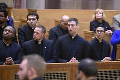 Ben Daghir (2nd from left) during Eucharistic Prayer, at Mass and Lector Installation, February 7, 2019.  Photo credit:  Larry Canner Photography