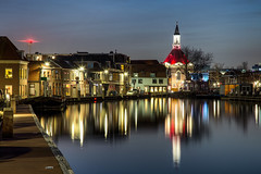 Leidschendam aan de Vliet (zilverbat.) Tags: longexposure zilverbat longexposurenetherlands longexposurebynight night nightphotography nightshot pin nightlights nightimage citybynight thenetherlands timelife town holland dutchholland dutch lenight church reflections reflectie reflection wallpaper world waterfront water winter canon leidschendam avond vliet kerk