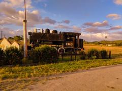 Steam loco at the entrance of Carmita Sugarmill (lezumbalaberenjena) Tags: carmita camajuani camajuaní villas villa clara cuba lezumbalaberenjena 2019 vapor steam loco locomotora locomotive